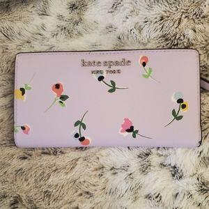 NWT Kate Spade lavender large slim bifold wallet